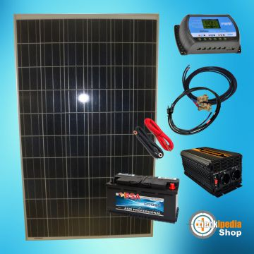 220 watt insel solaranlage photovoltaik 12v komplett set f r camping und garten ebay. Black Bedroom Furniture Sets. Home Design Ideas