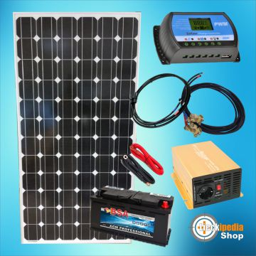 180 watt insel solaranlage 12 volt 230 volt pv komplett set f r camping garten ebay. Black Bedroom Furniture Sets. Home Design Ideas