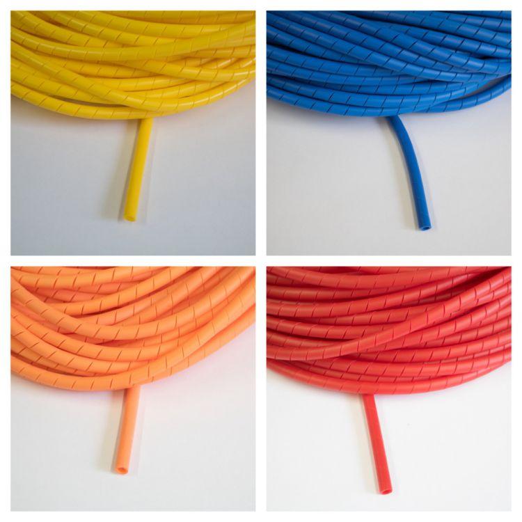 kabelschutz spiralband farbig versch l ngen uv best ndig gelb blau rot orange ebay. Black Bedroom Furniture Sets. Home Design Ideas