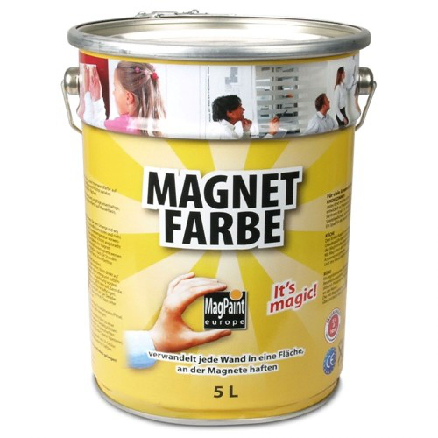 magnetfarbe magpaint magnetische wandfarbe 5000 ml. Black Bedroom Furniture Sets. Home Design Ideas