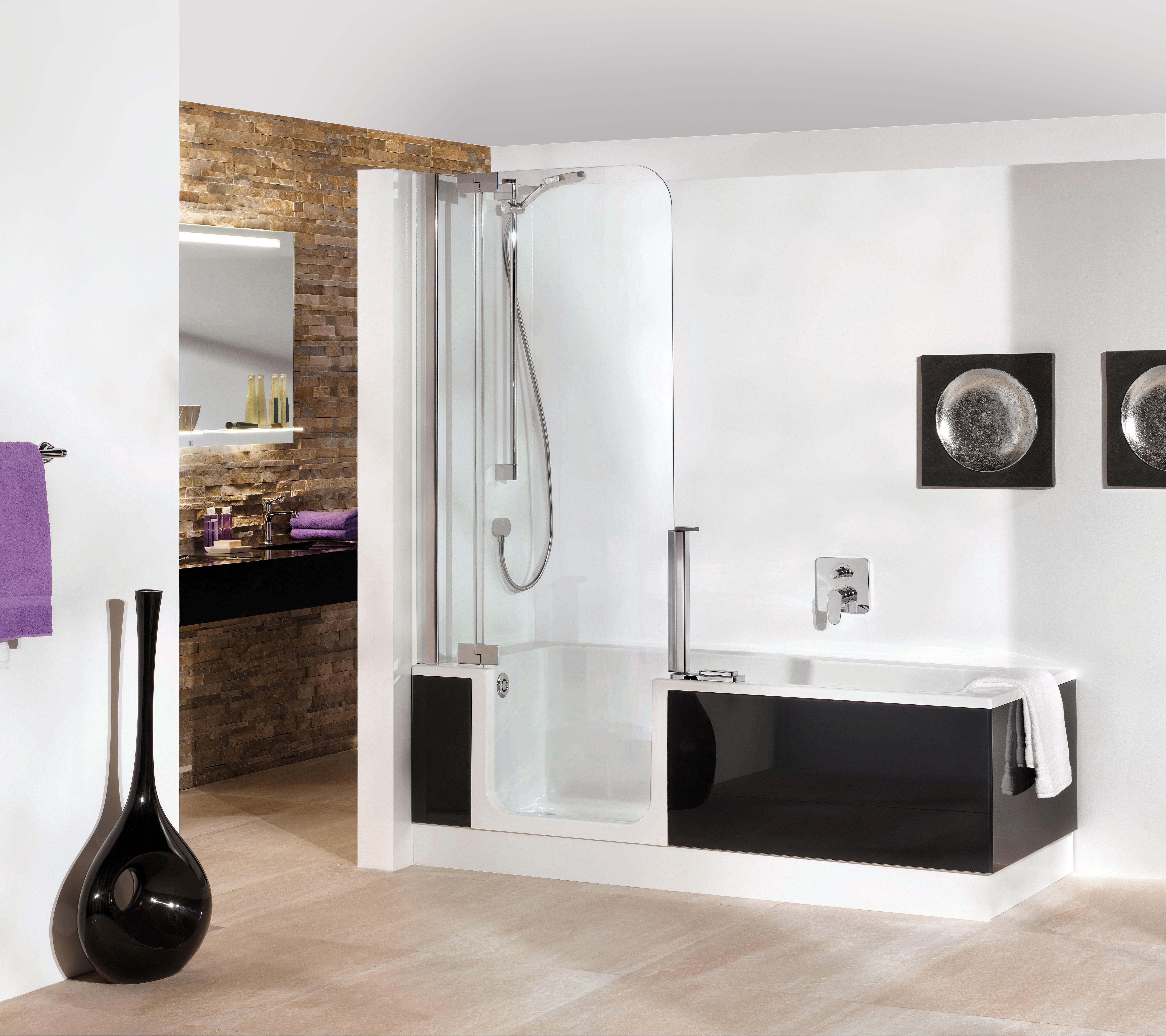 artweger twinline 2 dusch badewanne 180 x 80 cm mit t r und glasfront kombiwanne ebay. Black Bedroom Furniture Sets. Home Design Ideas
