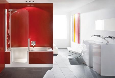 Artweger Twinline 2 Dusch Badewanne 180 x 80 cm mit Tür und ... | {Duschbadewanne twinline 70}