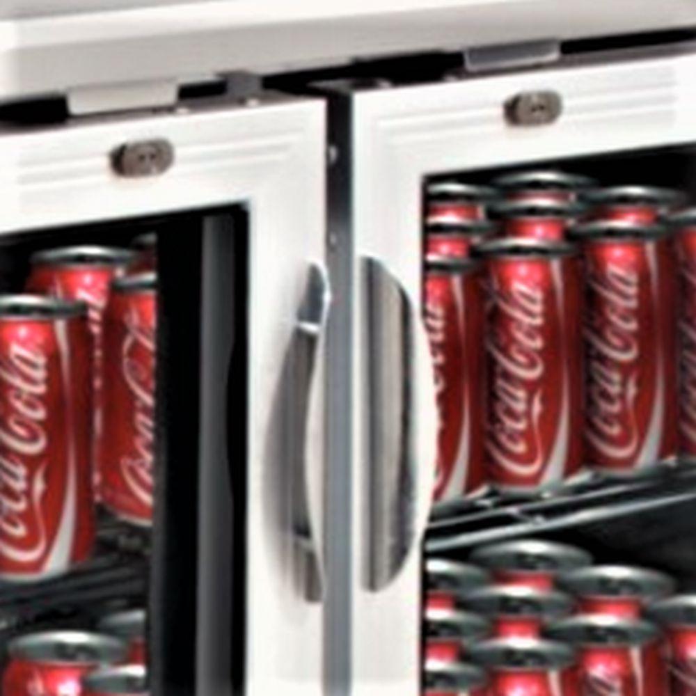 EDELSTAHL Bar Cooler Getränkekühlschrank Flaschenkühlschrank Bier ...