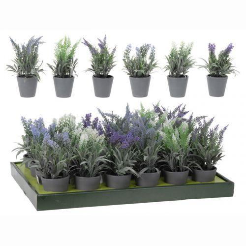 Lavendel kunstblume kunstpflanze dekopflanze im topf - Lavendel zimmerpflanze ...
