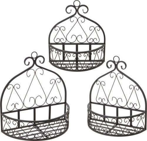 3 stk blumentopfhalter blumenhalter wandhalter f r. Black Bedroom Furniture Sets. Home Design Ideas