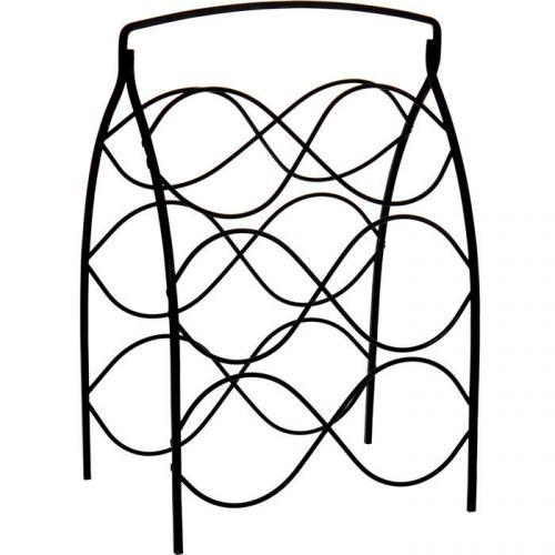 weinregal flaschenregal flaschenhalter aus metall f r 6. Black Bedroom Furniture Sets. Home Design Ideas