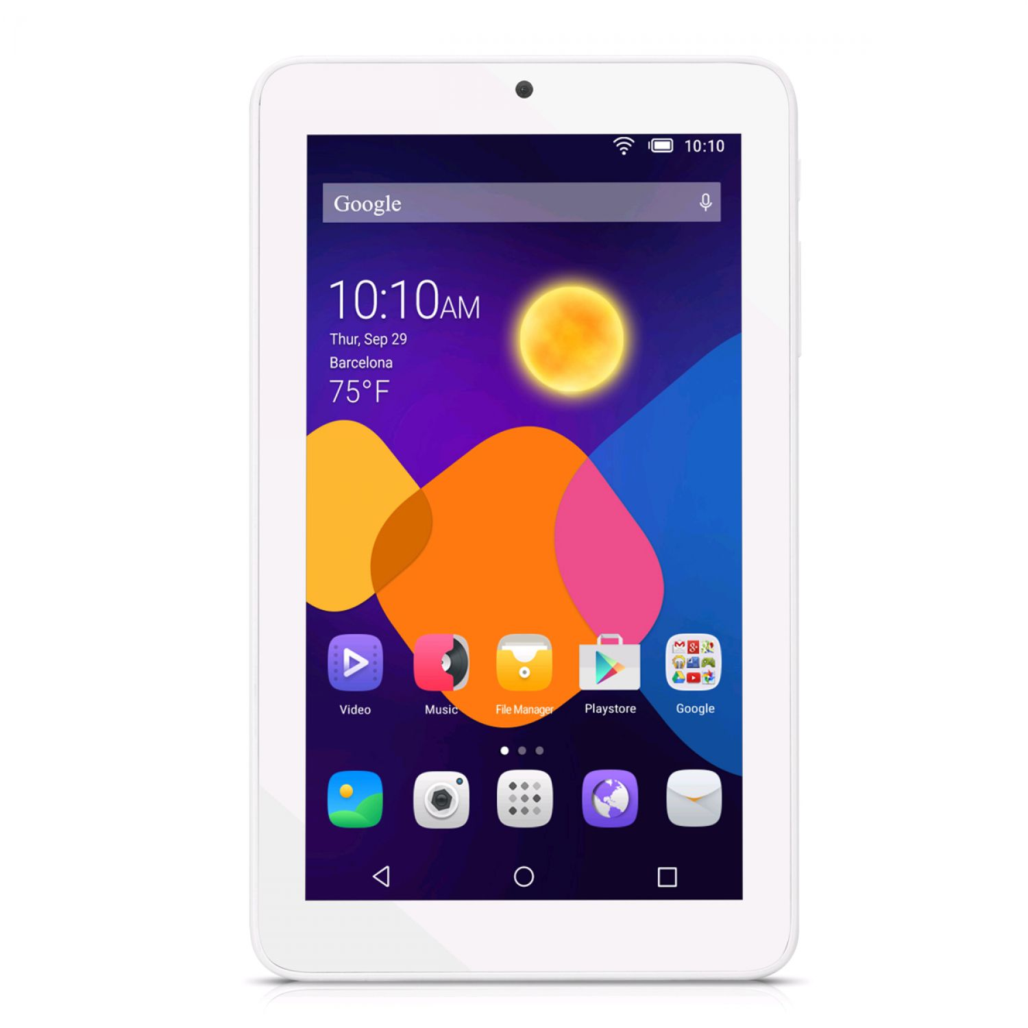alcatel one touch pixi 3 8gb 7 zoll android tablet white. Black Bedroom Furniture Sets. Home Design Ideas