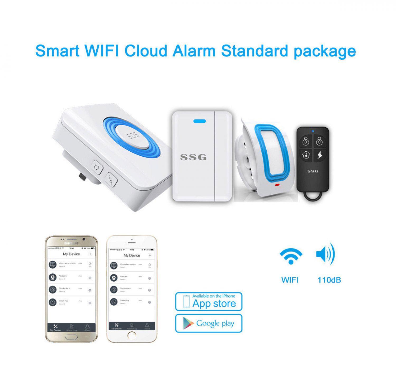wifi wlan haus alarmanlage sicherheitssystem mit app. Black Bedroom Furniture Sets. Home Design Ideas