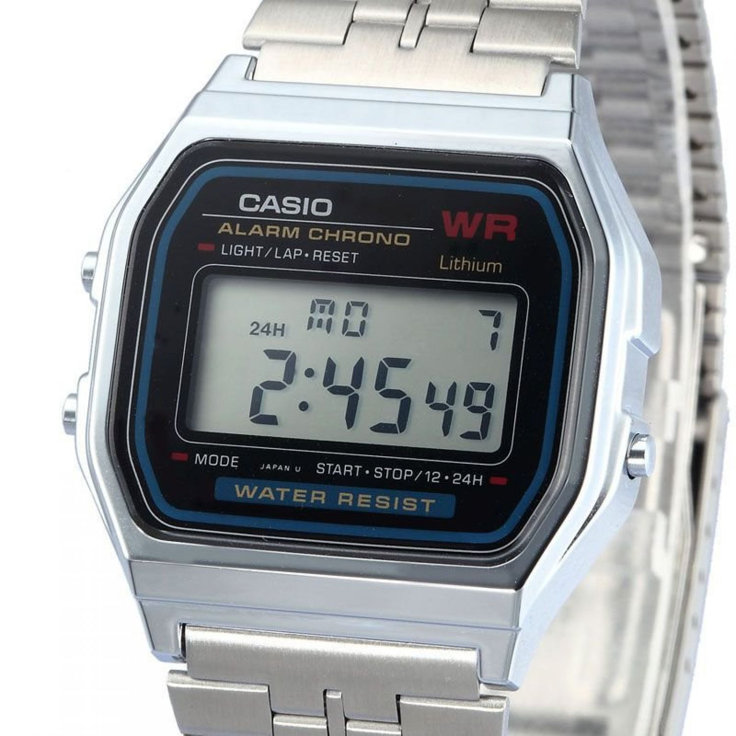 casio a158wg 1df uhr silber illuminator digital retro. Black Bedroom Furniture Sets. Home Design Ideas