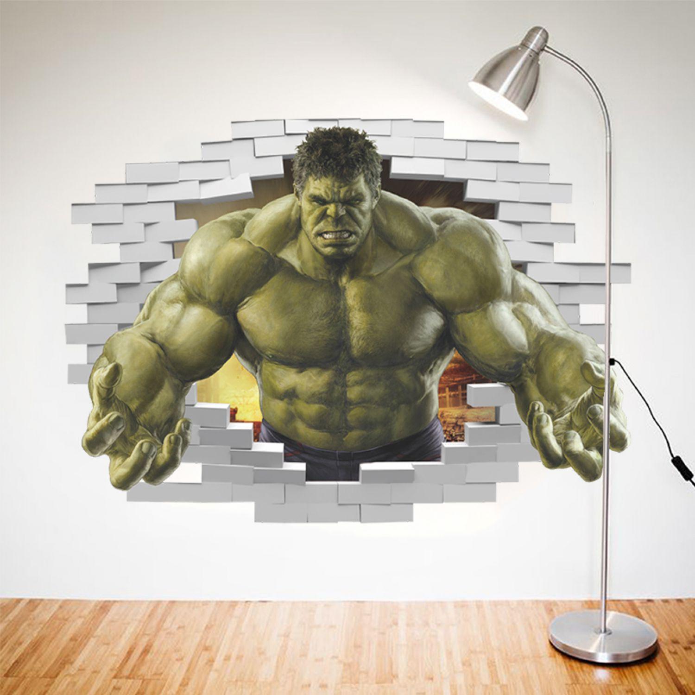 Hulk Wandsticker Wandtattoo Kinder Aufkleber Avenger Wandaufkleber ...