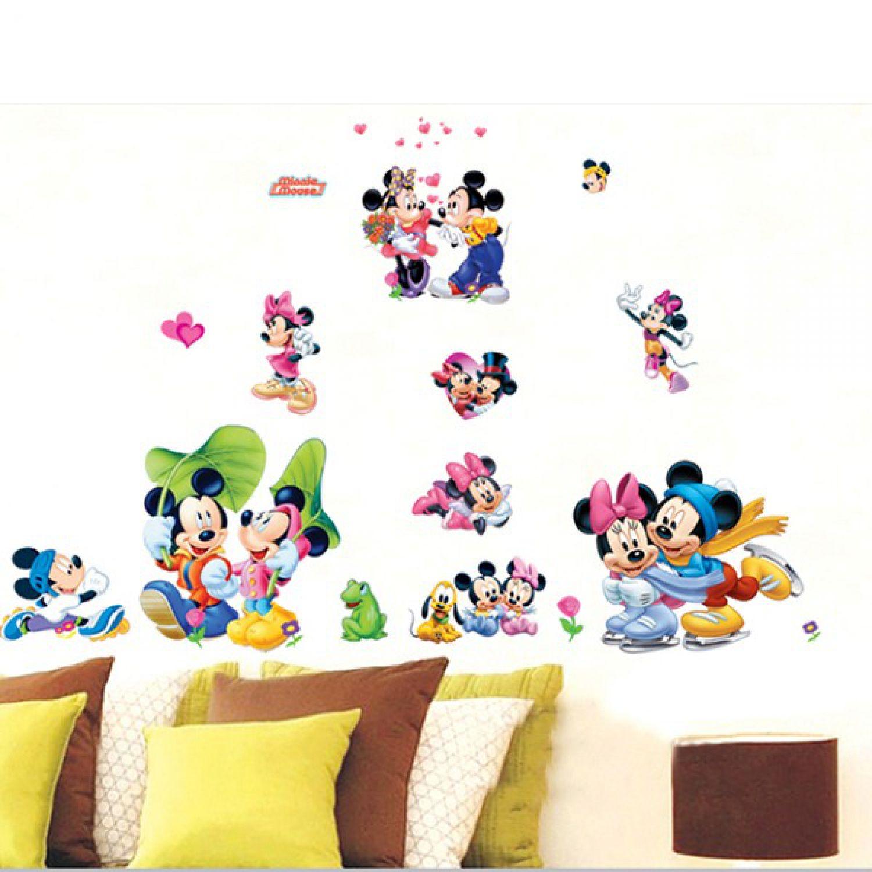 Mickey Maus Minnie Mouse Wandsticker Wandtattoo Disney Aufkleber ...