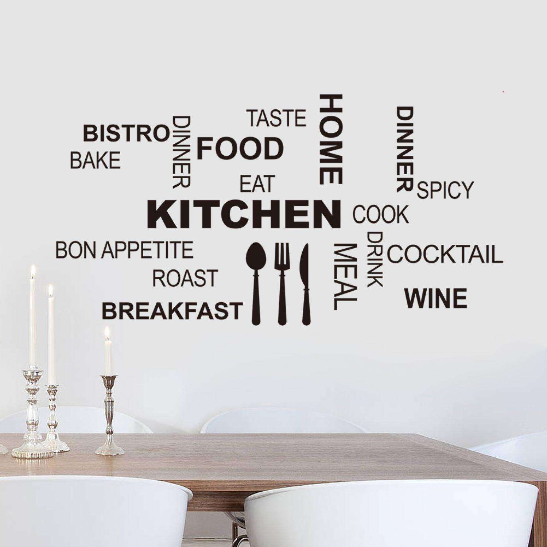Beeindruckend Wandtattoo Zitate Beste Wahl Kitchen Küche Spruch Wandsticker Aufkleber Zitat Breakfast