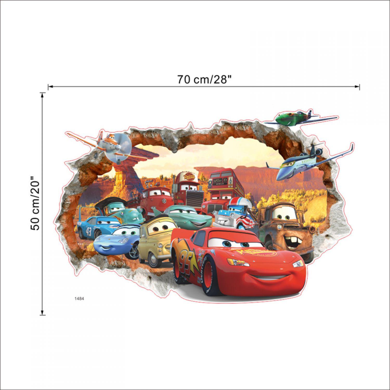 Cartoon Cars 3D Wandsticker Wandtattoo Aufkleber Wandaufkleber ...