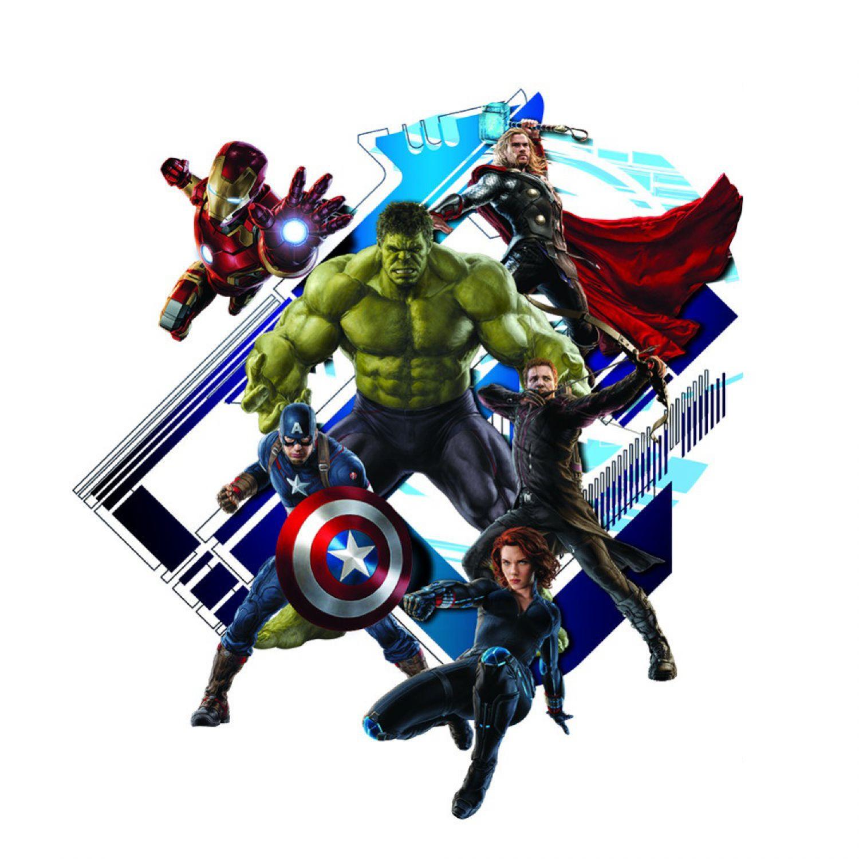 Hulk Iron Man Avengers Wandsticker Wandtattoo Kinder Wandaufkleber ...