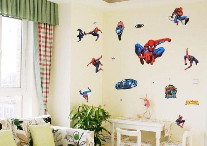 Beeindruckend 3d Wandtattoo Sammlung Von Wandsticker Spiderman Spinne Aufkleber Kinder Sticker Kinderzimmer