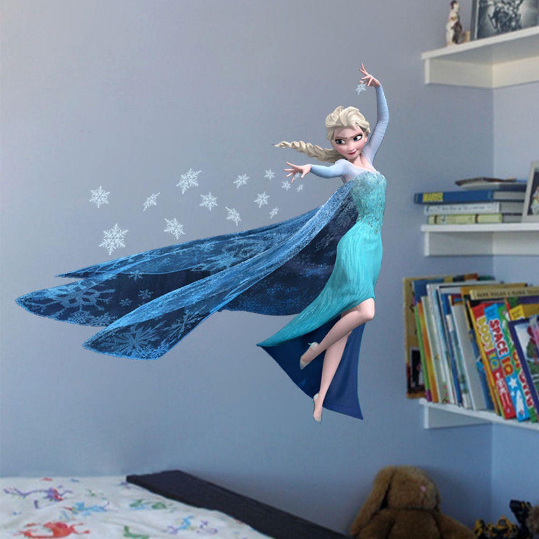 3D Eiskönigin Elsa Wandsticker Wandtattoo Aufkleber Disney Frozen ...