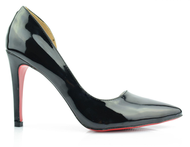 damenschuhe high heels stiletto pumps abendschuhe lack rote sohle gr 36 40 ebay. Black Bedroom Furniture Sets. Home Design Ideas