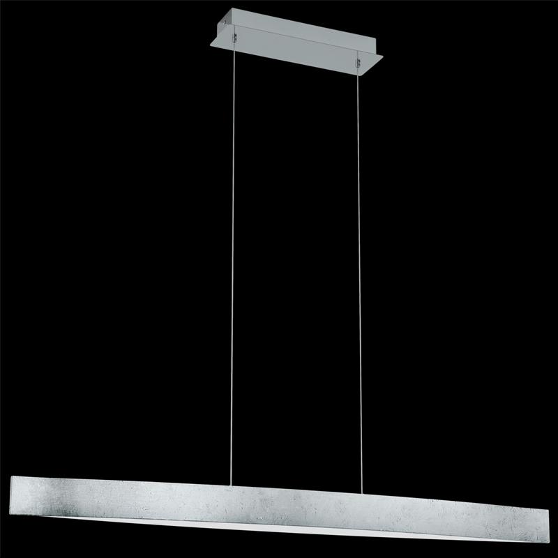 pendelleuchte eglo fornes led 20w silber wei h ngeleuchte pendellampe 93339 ebay. Black Bedroom Furniture Sets. Home Design Ideas