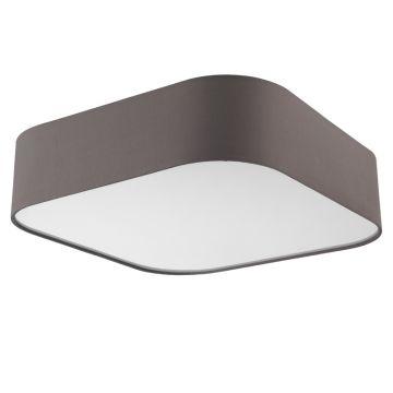 deckenleuchte sorpetaler stoff grau deckenlampe led 40w dimmbar eckig 50x50 cm ebay. Black Bedroom Furniture Sets. Home Design Ideas