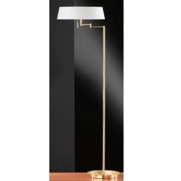 stehleuchte honsel emil led messing poliert stoffschirm standleuchte 44561 ebay. Black Bedroom Furniture Sets. Home Design Ideas