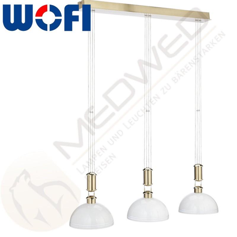 h ngelampe lampe wofi amalia leuchte messing esstisch wohnzimmer ebay. Black Bedroom Furniture Sets. Home Design Ideas