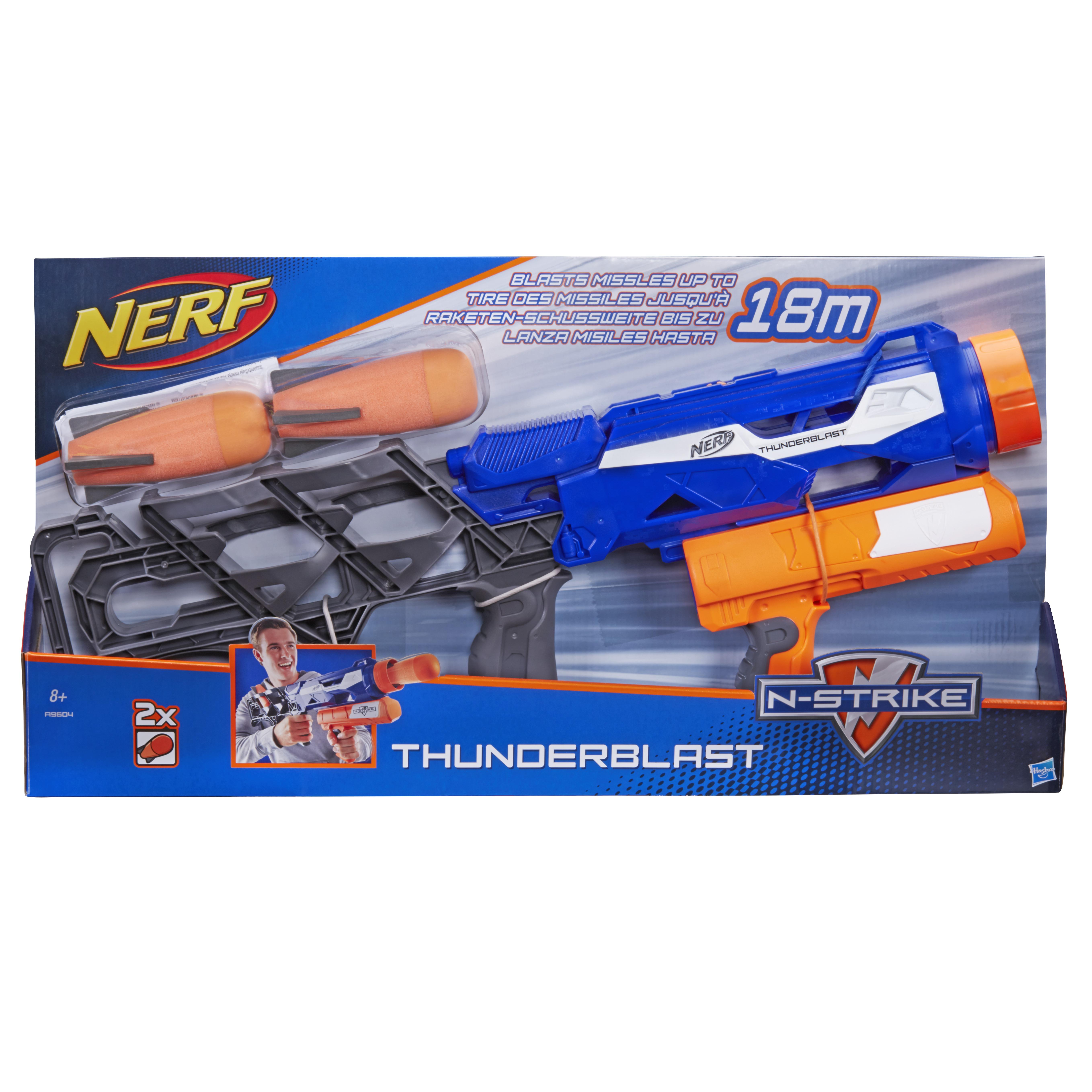 Image is loading Hasbro-Nerf-N-Strike-Thunderblast-with-2-Foam-