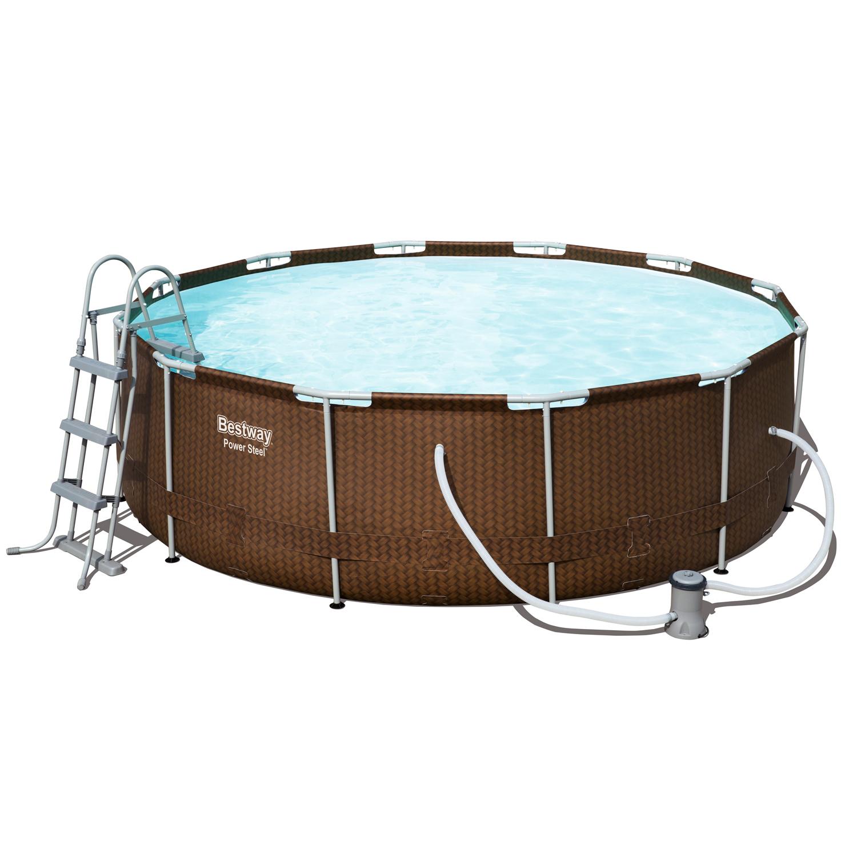 bestway 56379 pool rattanoptik schwimmbecken swimming. Black Bedroom Furniture Sets. Home Design Ideas