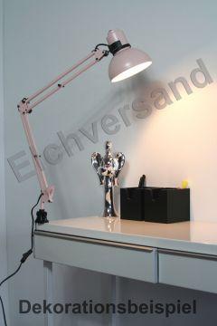 ikea arbeitslampe brakig metall klemmlampe kinder schreibtischlampe in rosa. Black Bedroom Furniture Sets. Home Design Ideas