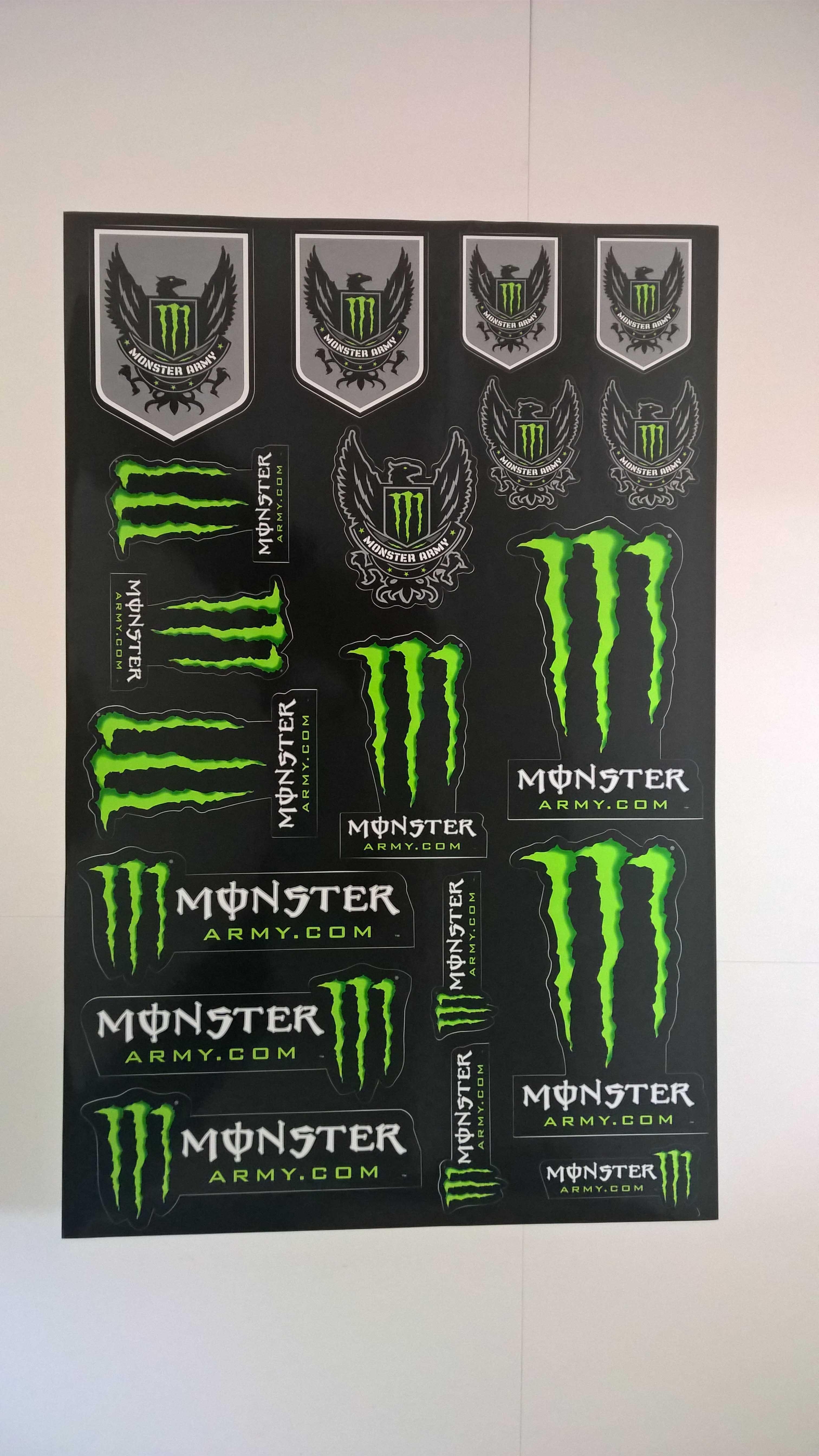 monster energy sticker aufkleber bogen monster army ebay. Black Bedroom Furniture Sets. Home Design Ideas
