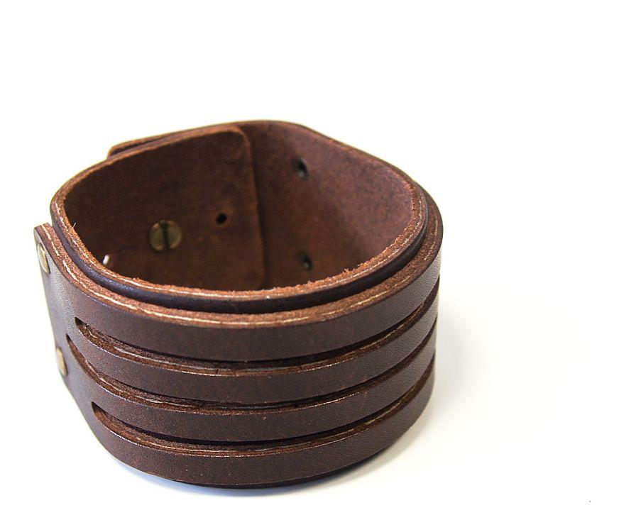 lederarmband herren armband leder breit braun echt leder ebay. Black Bedroom Furniture Sets. Home Design Ideas