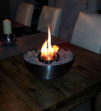 Designer kamin f r bioethanol feuerschale incl dekosteine for Kamin mit brennpaste