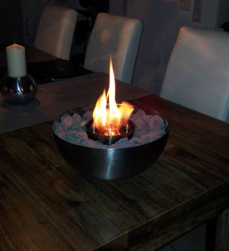 designer kamin f r bioethanol feuerschale incl dekosteine f r ethanol gel ebay. Black Bedroom Furniture Sets. Home Design Ideas