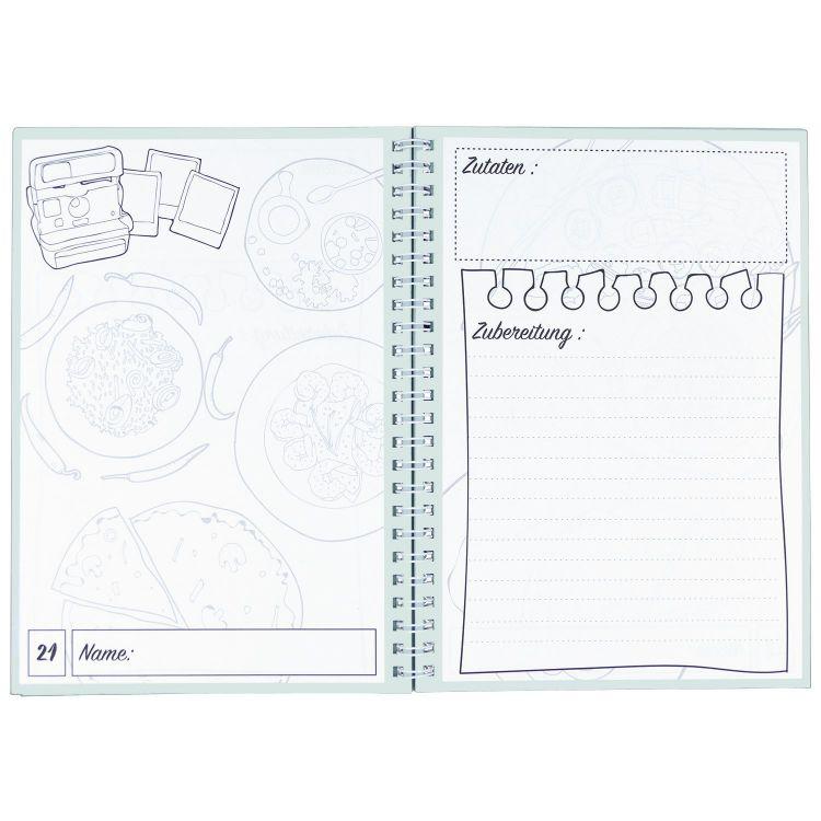 rezeptbuch zum selberschreiben mit register kochbuch backbuch 40 rezepte din a5 ebay. Black Bedroom Furniture Sets. Home Design Ideas