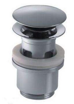 push open ablauf ventil push up ablaufgarnitur chrom ebay. Black Bedroom Furniture Sets. Home Design Ideas