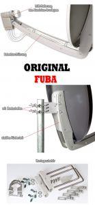 testsieger fuba 85cm aluminium sat antenne spiegel. Black Bedroom Furniture Sets. Home Design Ideas