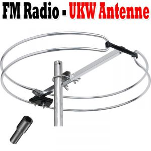 ukw antenne radioantenne rundantenne au enantenne top fm radio signale empfang ebay. Black Bedroom Furniture Sets. Home Design Ideas
