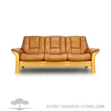 ekornes stressless windsor 3 sitzer tan ledersofa. Black Bedroom Furniture Sets. Home Design Ideas
