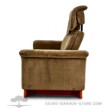 ekornes stressless paradise 2 sitzer hoch braun stoffsofa relaxsofa ebay. Black Bedroom Furniture Sets. Home Design Ideas