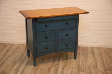 grange blaue kommode anrichte sideboard fernsehm bel mit. Black Bedroom Furniture Sets. Home Design Ideas