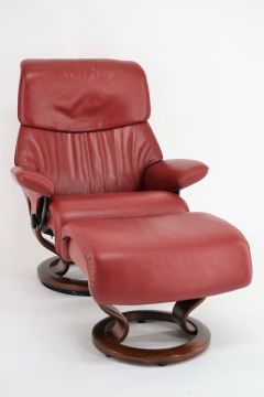 ekornes stressless sessel dream m mit hocker ledersessel top zustand ebay. Black Bedroom Furniture Sets. Home Design Ideas