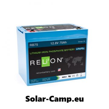 relion lithium 75ah lifepo4 batterie rb75 bord solar akku. Black Bedroom Furniture Sets. Home Design Ideas