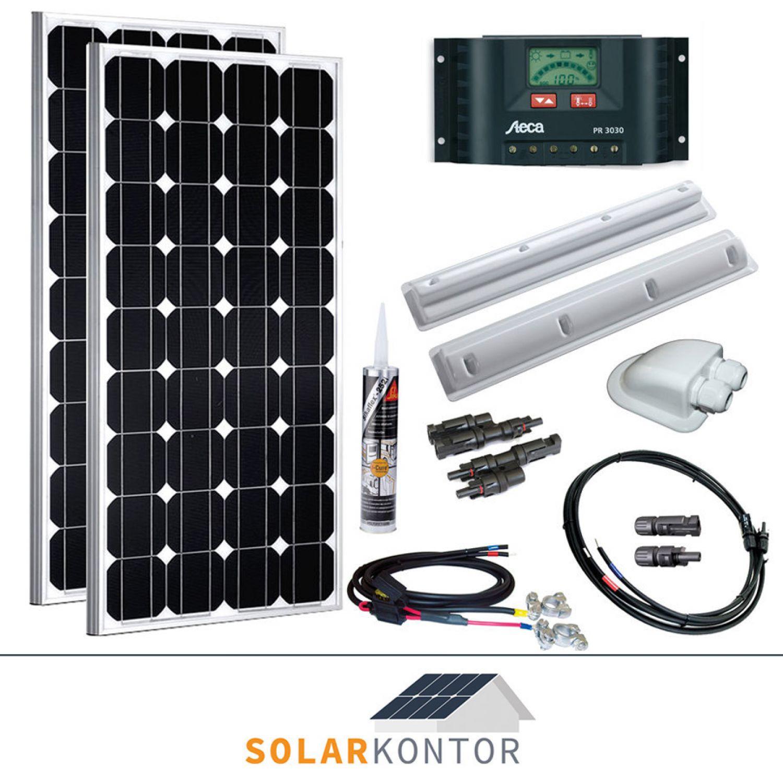 200w wattstunde wohnmobil 12v solaranlage solar set. Black Bedroom Furniture Sets. Home Design Ideas