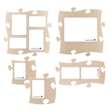 5 puzzles rahmen set puzzle bilderrahmen country living natur ebay. Black Bedroom Furniture Sets. Home Design Ideas