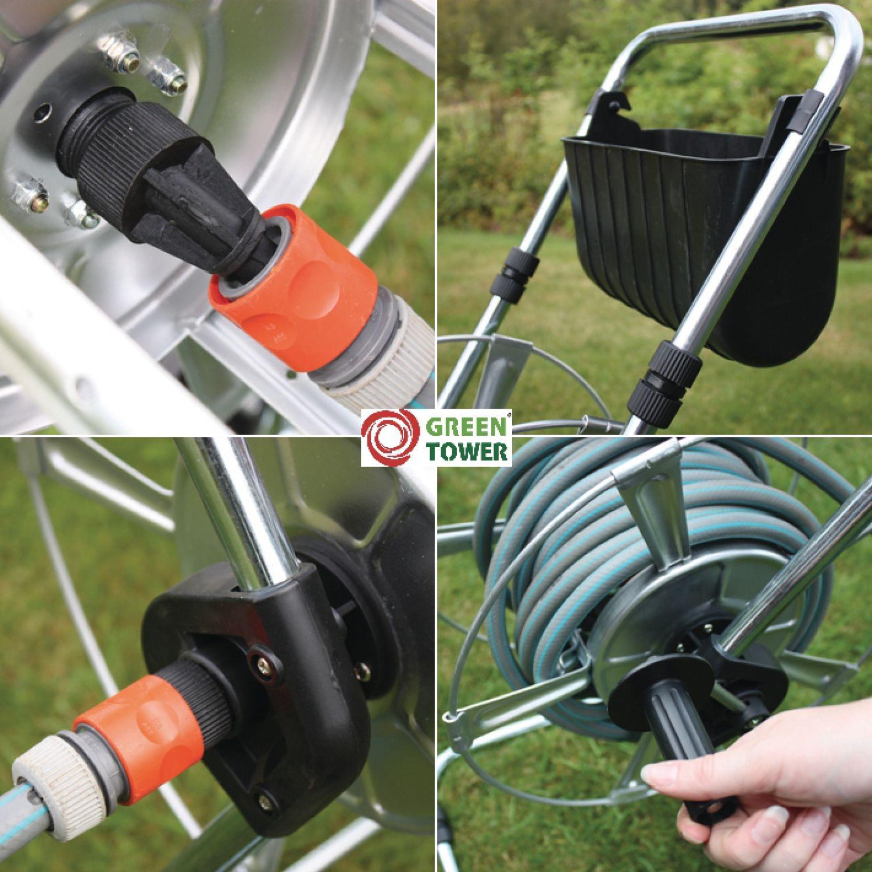 greentower schlauchwagen premium f r 1 2 u 3 4 zoll ohne schlauch zubeh r. Black Bedroom Furniture Sets. Home Design Ideas