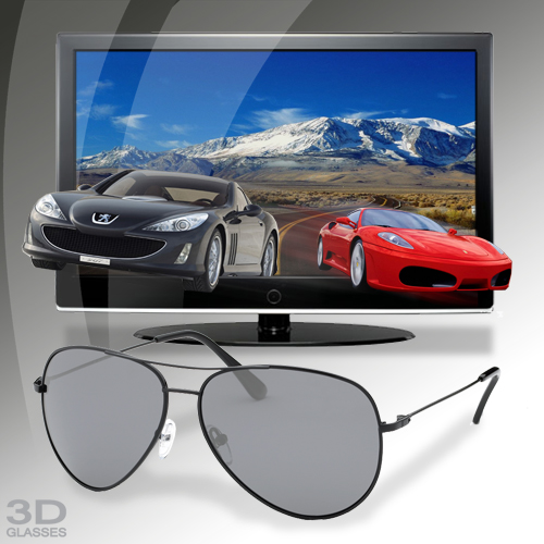 3d brille passiv aviator style polarisiert tv brille f r 3d effekt fernseher ebay. Black Bedroom Furniture Sets. Home Design Ideas