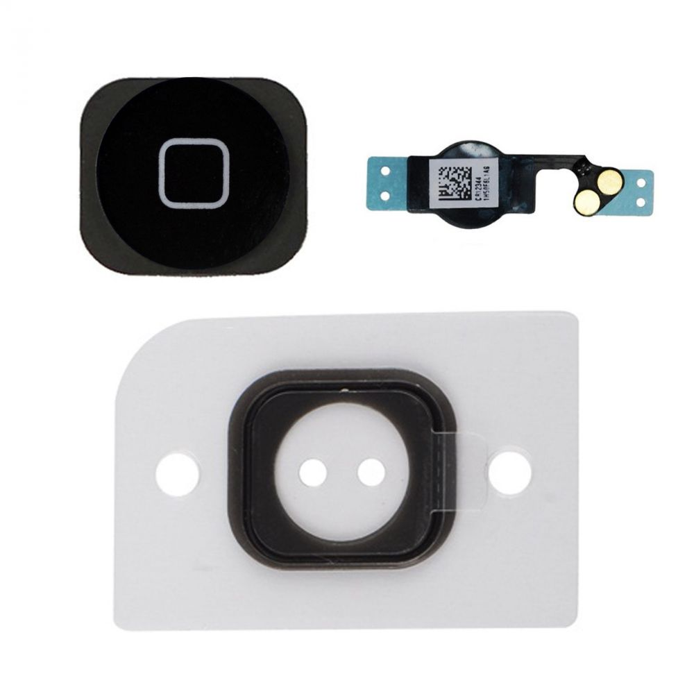 iphone 5 home button set taste flex kabel gummi knopf ersatzteil schwarz ebay. Black Bedroom Furniture Sets. Home Design Ideas
