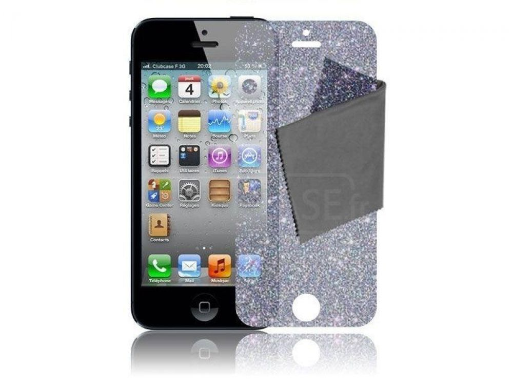 iphone 5s se handy schutzfolie glitzer display diamond. Black Bedroom Furniture Sets. Home Design Ideas