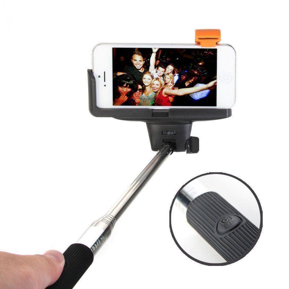 selfiestick selfie stange stativ smartphone handy teleskop bluetooth schwarz ebay. Black Bedroom Furniture Sets. Home Design Ideas