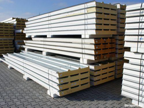 155 mm sandwichplatten trapezbleche dachplatten thermodach isoplatten 2 wahl ebay. Black Bedroom Furniture Sets. Home Design Ideas