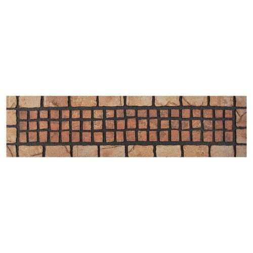 fu matte gummi stufenmatte terracotta mosaik braun 23 x 89. Black Bedroom Furniture Sets. Home Design Ideas